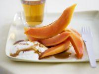 Papaya with Honey Sauce recipe