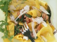 Pappardelle with Arugula and Tomatoes recipe