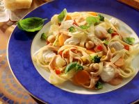Pappardelle with Cod and Vegetables