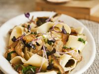 Pappardelle with Mushroom Sauce recipe