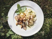 Pappardelle with Mushrooms and Basil recipe