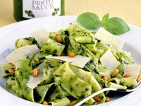 Pappardelle with Pesto, Parmesan and Pine Nuts recipe