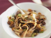 Pappardelle with Rabbit Ragout and Dark Chocolate recipe