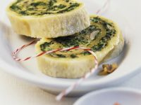 Parmesan and Green Leaf Slices recipe