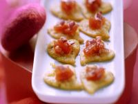Parmesan Heart Biscuits with Tomato Salsa recipe