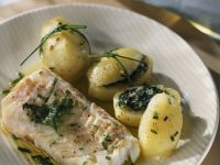 Parsley and Basil Potatoes with White Fish recipe