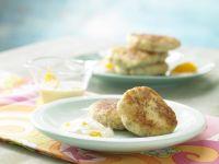 Parsnip Fritters with Yogurt Dip