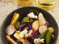 Parsnip Salad with Pear and Cheese recipe