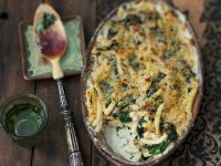 Pasta and Spinach Gratin recipe