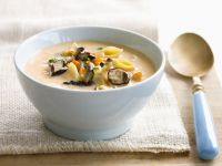 Pasta and Vegetable Cream Soup recipe
