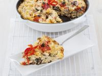 Pasta and Vegetable Omelette recipe