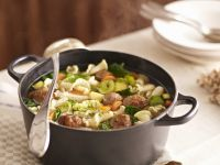 Hearty Meat, Veg, and Castellane Soup recipe