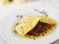 Pasta Circles with Lamb and Eggplant Ragout recipe