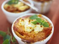 Pasta Gratin with Tomatoes and Goat Cheese recipe