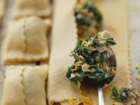 Pasta Parcels with Porcini Mushrooms and Spinach recipe