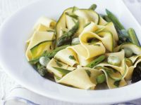 Pasta Ribbons with Green Vegetables recipe