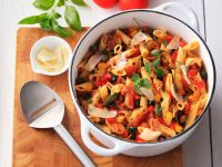 Pasta Salad with Bell Peppers and Bacon