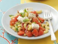 Pasta Salad with Feta Cheese and Watermelon recipe