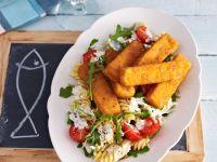 Pasta Salad with Fish Sticks recipe