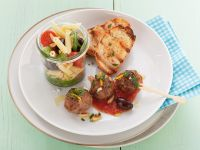 Pasta Salad with Meatballs and Tomato Sauce recipe
