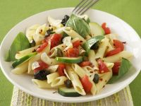 Pasta Salad with Olives, Tomatoes and Basil recipe