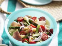 Pasta Salad with Prosciutto and Vegetables recipe