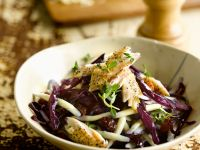Pasta Salad with Red Cabbage and Smoked Fish recipe