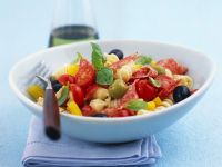 Pasta Salad with Salami, Tomatoes and Olives recipe