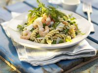 Pasta Salad with Shrimp and Arugula recipe