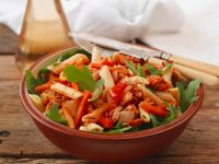 Pasta Salad with Tuna, Carrots and Peppers recipe