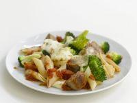 Pasta, Sausage, and Mozzarella Bake recipe