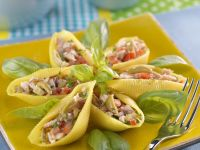 Pasta Shells with Chicken and Olive Filling recipe
