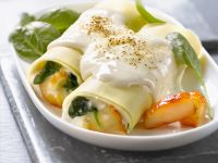 Pasta Tubes Filled with Fish recipe