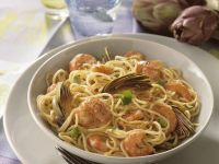 Pasta with Artichokes and Shrimp recipe