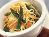 Pasta with Asparagus and Salmon recipe