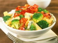 Pasta with Bacon, Broccoli and Cheese recipe