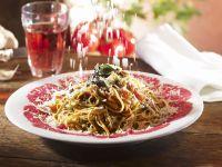Pasta with Beef Carpaccio recipe
