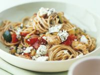 Pasta with Blue Cheese, Chicken and Vegetables recipe