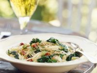 Pasta with Brocoletto and Pine Nuts recipe