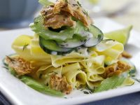 Pasta with Celery, Tuna and Cucumber recipe