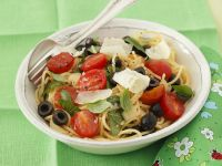 Pasta with Cherry Tomatoes, Olives and Parmesan recipe