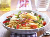 Pasta with Colorful Vegetable Sauce recipe