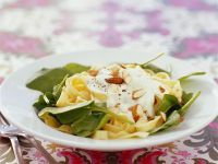 Pasta with Creme Fraiche and Almonds recipe