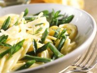 Pasta with Green Beans and Parmesan recipe