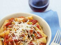 Pasta with Ground Meat and Tomato Sauce recipe