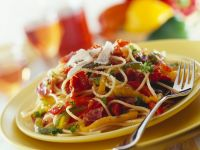 Pasta with Ham and Bell Peppers recipe