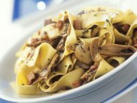 Pasta with Ham and Mushrooms recipe