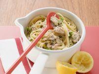 Pasta with Lemon Tuna and Caper Sauce recipe