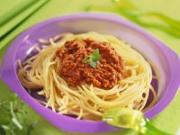 Pasta with Meat Sauce recipe