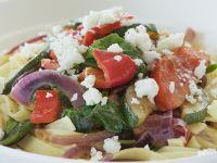 Pasta with Mediterranean Vegetables and Feta Cheese recipe